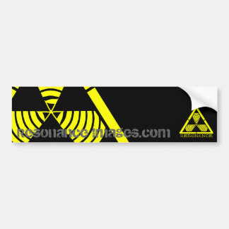 Hazard Logo Resonance Images Bumper Sticker