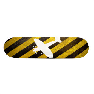 hazard, spitfire white skateboard