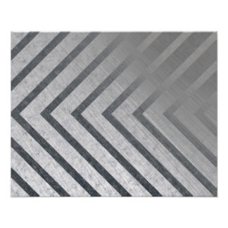 Hazard Stripe Metal Photo Art