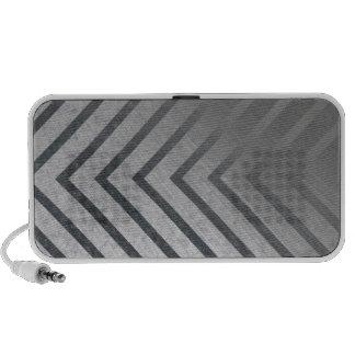 Hazard Stripe Metal Speaker