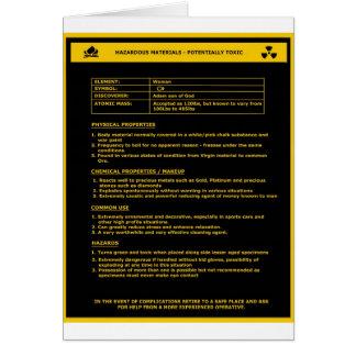 Hazardous Material Sign - Women Greeting Card