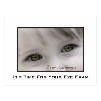 Hazel Eyes Eye Exam Appointment Reminder Postcard