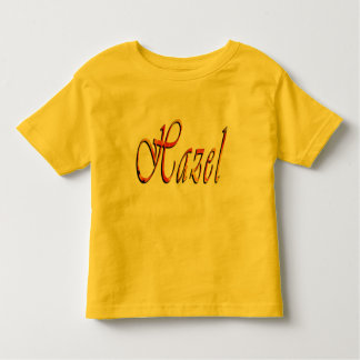 Hazel, Name, Logo, Toddlers Yellow T-shirt