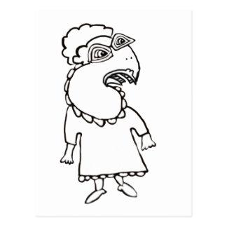 Hazel The bird Lady, With Shoes Postcard