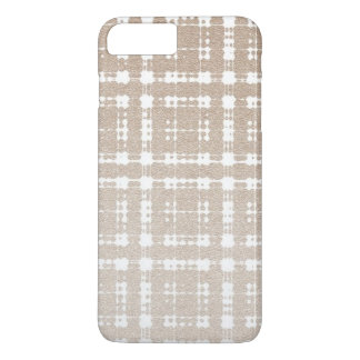 Hazelnut Brown Modern Ombre Plaid iPhone 7 Plus Case