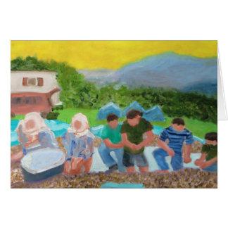 Hazelnut Harvest in Turkey Card
