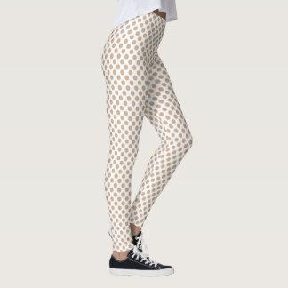 Hazelnut Polka Dots Leggings