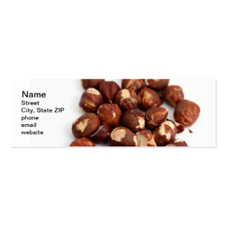 Hazelnuts Pack Of Skinny Business Cards