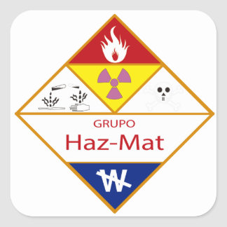 hazmat gea Latin team Square Sticker