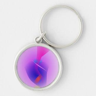 Hazy Light Purple Toy Abstract Key Chain