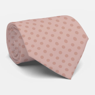 Hazy taupe/rose polka dots tie