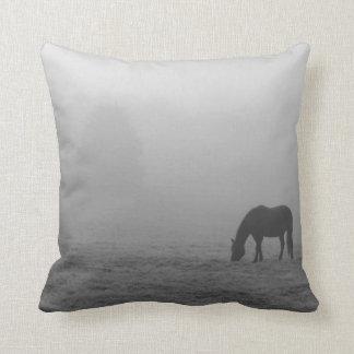 Hazzy Grazing Grayscale Cushion