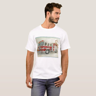 HB Fire Truck tshirt