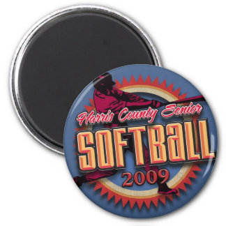 HCSSL Softball League Products 6 Cm Round Magnet