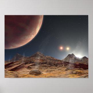 HD188753 Three suns NASA Poster