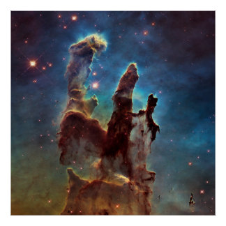 HDR Eagle Nebula Pillars of Creation Poster
