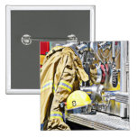 HDR Fireman Gear and Fire Truck Badge