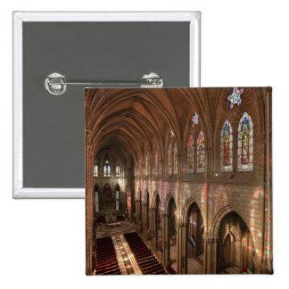 HDR image of Basilica interior, Quito, Ecuador 15 Cm Square Badge