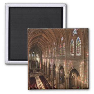 HDR image of Basilica interior, Quito, Ecuador Square Magnet
