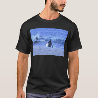 HDR Surfer Holding Body Board T-Shirt