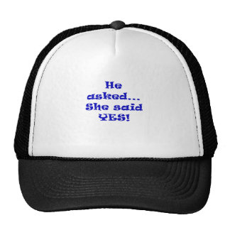 He Asked She Said Yes Mesh Hat
