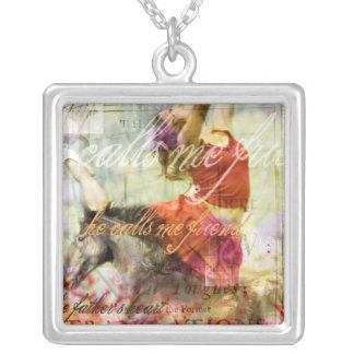 He calls me Friend Silver Plated Necklace