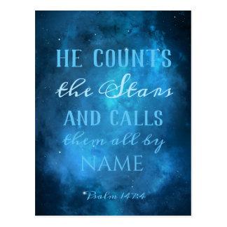 He Counts the Stars Postcard