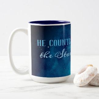 He Counts the Stars Two-Tone Coffee Mug