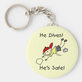 He Dives He's Safe Tshirts and Gifts Basic Round Button Key Ring