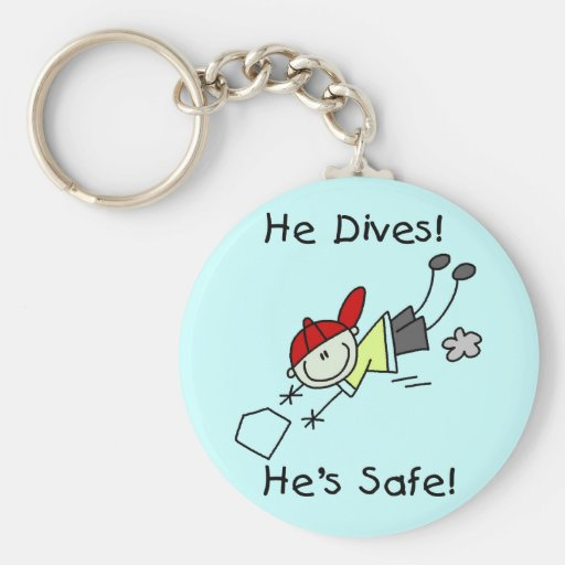 He Dives He's Safe Tshirts and Gifts Keychains