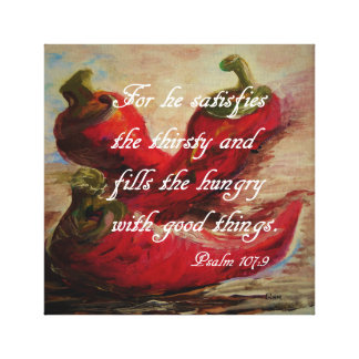 He Fills the Hungry Canvas Print