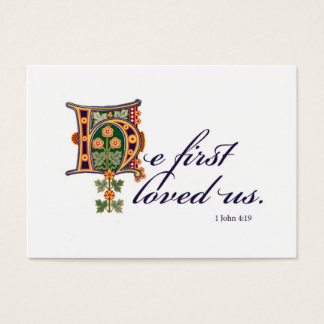 He First & Confident Business Card
