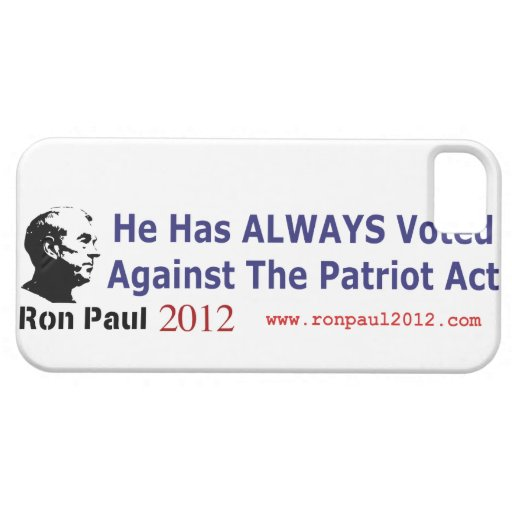 He Has Always Voted Against The Patriot Act iPhone 5 Case