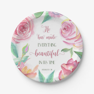 He Has Made Everything Beautiful Ecclesiastes 3:11 Paper Plate