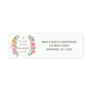 He Has Made Everything Beautiful Ecclesiastes 3:11 Return Address Label