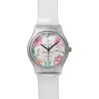 He Has Made Everything Beautiful Ecclesiastes 3:11 Wrist Watch