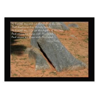 He hideth my soul ...cleft of the rock business card
