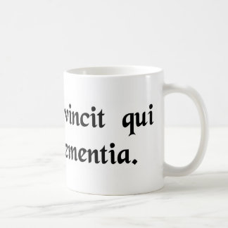 He is forever victor who employs clemency. basic white mug
