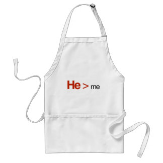 He is greater than me standard apron
