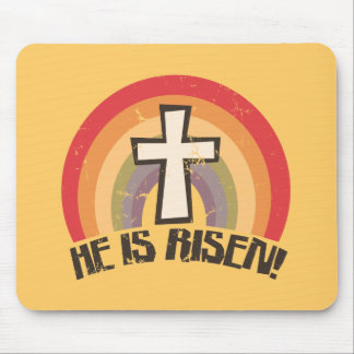 He Is Risen Religious Easter Mousepad