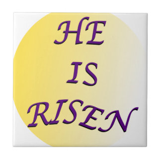 He Is Risen Small Square Tile