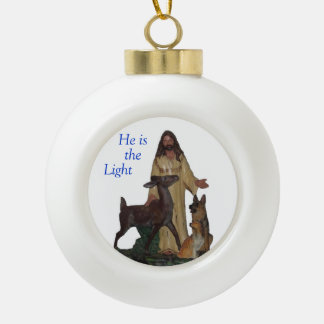 He Is The Light Holiday Ornament