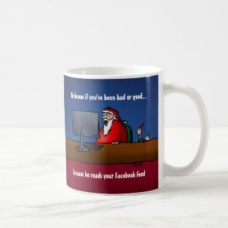 He Knows If You've Been Bad Funny Santa Coffee Mug