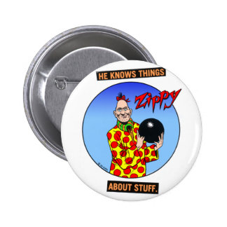 He knows things... 6 cm round badge