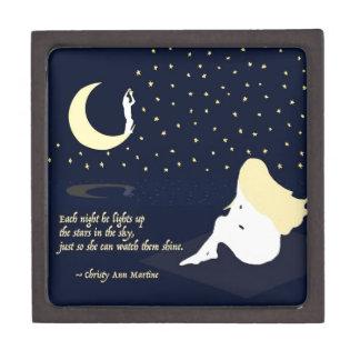 He Lights Up the Stars Love Quote Premium Keepsake Box