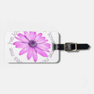 He Loves Me He Loves Me Not Luggage Tag