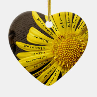 he loves me he loves me note ceramic ornament