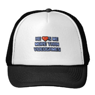 He Loves Me More Than Videogames Trucker Hat