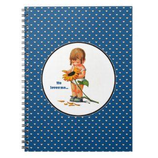 He loves me...Valentine's Day Gift Notebooks
