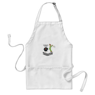 he never sees it coming standard apron